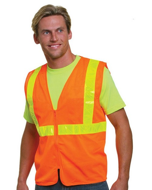 Bayside BA3780 Mesh Safety Vest Orange