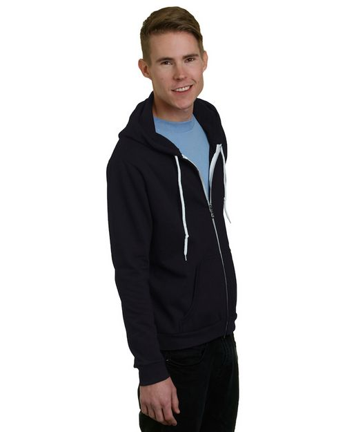 Bayside BA875 Unisex Full-Zip Fashion Hooded Sweatshirt