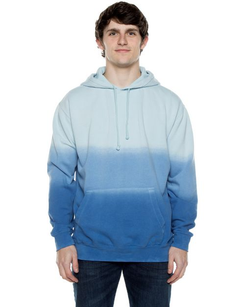 Beimar PD102RD Unisex 8.25 oz Pigment-Dyed Hooded Sweatshirt