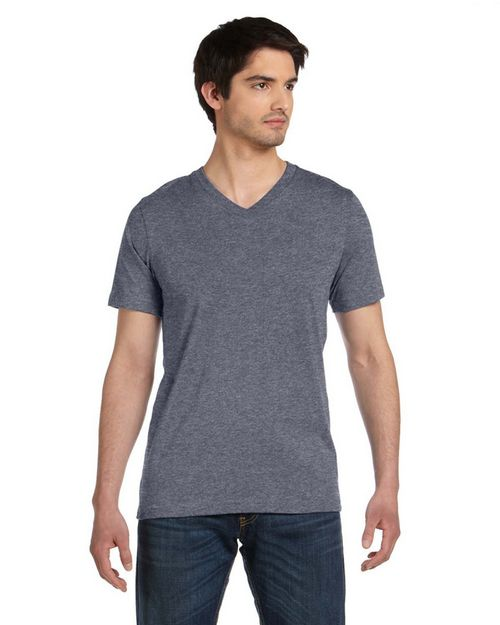 Bella + Canvas 3005U Unisex Made in the USA Jersey Short-Sleeve V Neck T Shirt