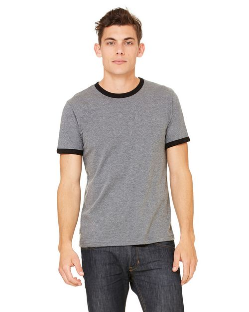 Bella + Canvas 3055C Men's Jersey Short-Sleeve Ringer T-Shirt