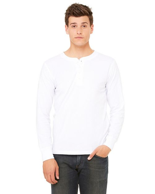 Bella + Canvas 3150 Men's Jersey Long-Sleeve Henley