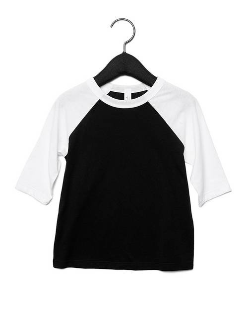 Bella + Canvas 3200T Toddler 3/4 Sleeve Baseball T-Shirt