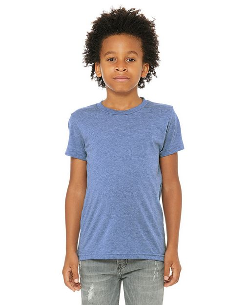 Bella + Canvas 3413Y Youth Triblend Short-Sleeve T-Shirt