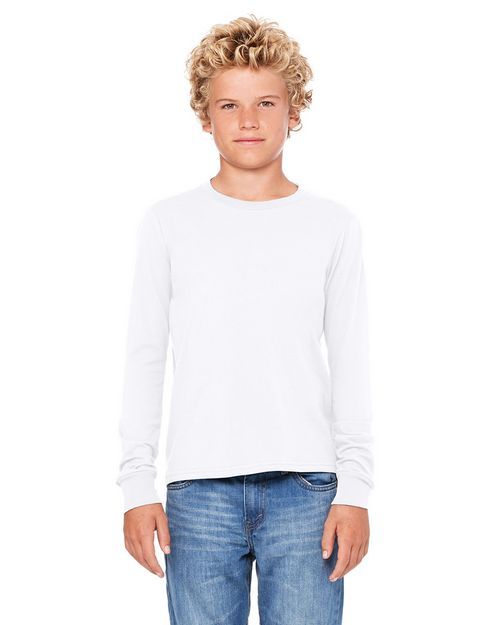 Bella + Canvas 3501Y Youth Jersey Long Sleeve T-Shirt