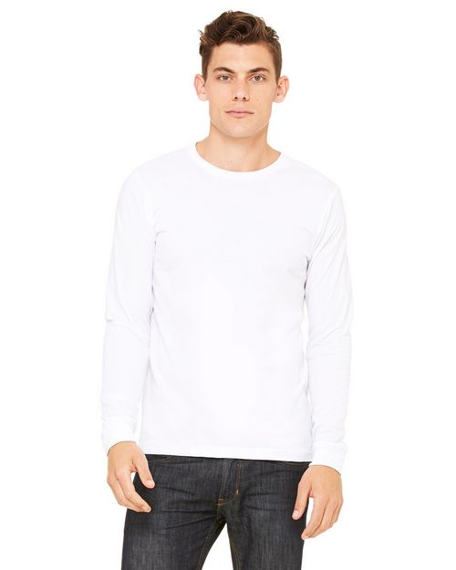 Bella + Canvas 3501 Men's Jersey Long-Sleeve T-Shirt