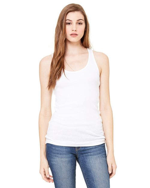 Bella + Canvas 4070 2x1 Rib Racerback Longer Length Tank