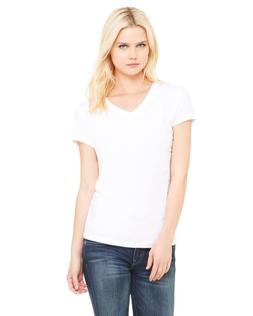 Bella + Canvas 6005 Ladies Jersey Short-Sleeve V-Neck Tee