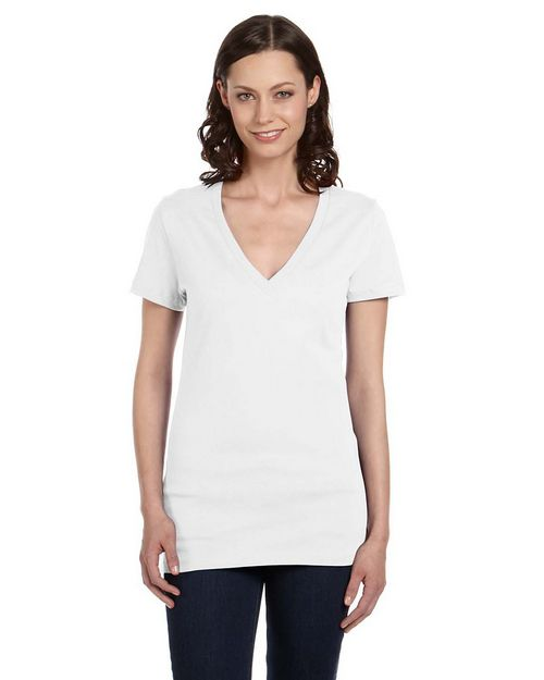 Bella + Canvas 6035 Ladies Jersey Deep V-Neck Tee