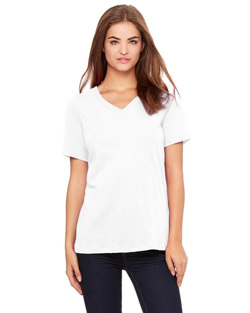 Bella + Canvas 6405 Ladies Missy's Relaxed Jersey Short-Sleeve V-Neck T-Shirt