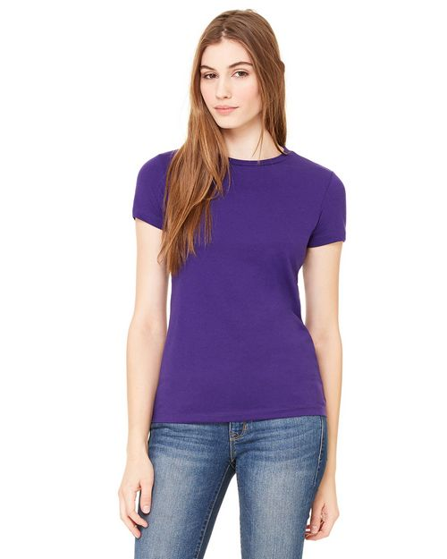Bella + Canvas 6650 Ladies Poly-Cotton Short-Sleeve T-Shirt