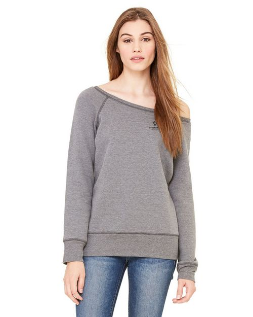 Bella + Canvas 7501 Ladies Sponge Fleece Wide Neck Sweatshirt