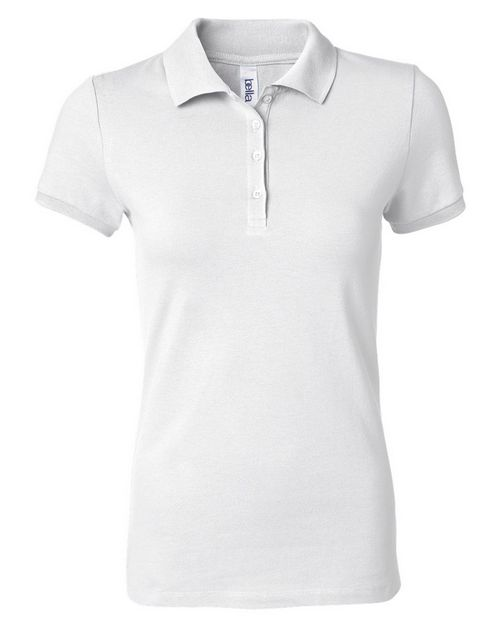 Bella + Canvas 750 Womens Cotton Spandex Mini Pique Short Sleeve Polo