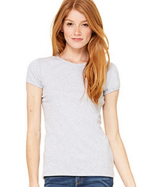 Bella + Canvas B1001 Womens Baby Rib Short Sleeve Tee