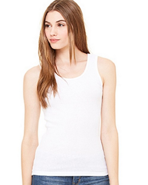Bella + Canvas B4000 Womens 2x1 Rib Tank