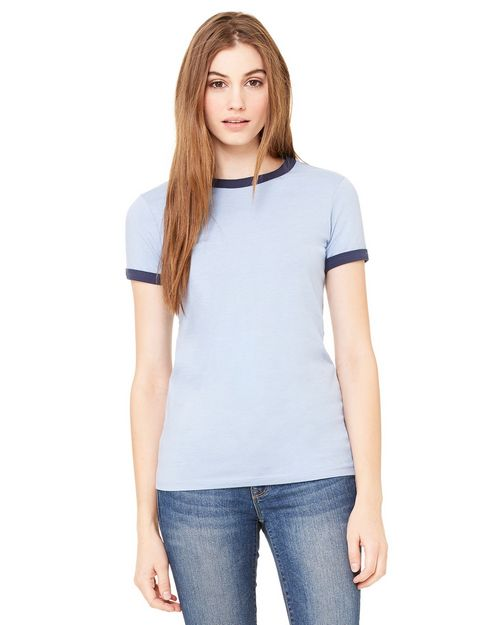 Bella + Canvas B6050 Ladies Jersey Short-Sleeve Ringer T-Shirt