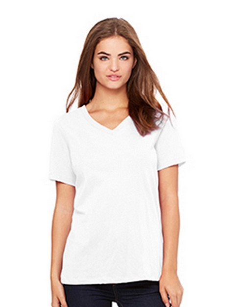 Bella + Canvas B6405 Womens Relaxed Jersey Short Sleeve V-Neck Tee
