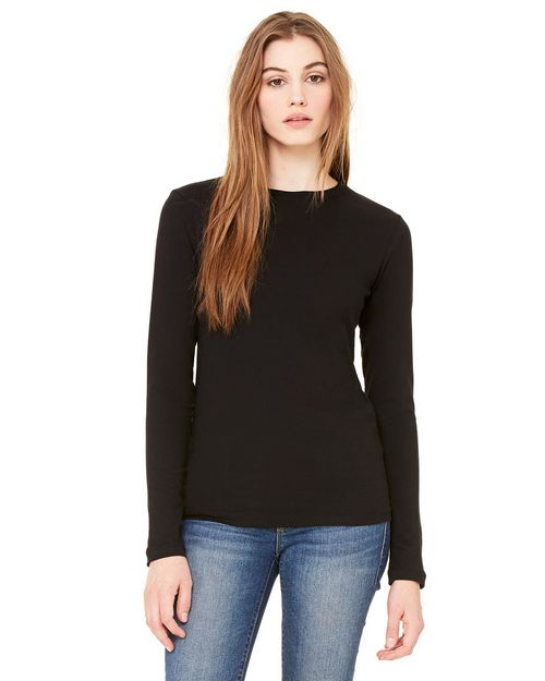 Bella + Canvas B6500 Ladies Long-Sleeve Crew Neck Jersey T-Shirt