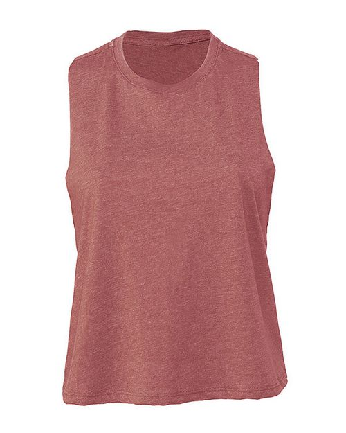 Bella + Canvas B6682 Womens Bella Racerback Cropped Tank