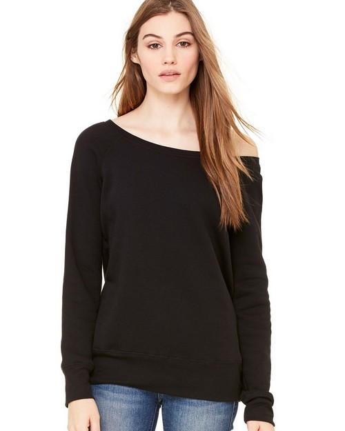 Bella + Canvas B7501 Womens Sponge Fleece Wide Neck Sweatshirt