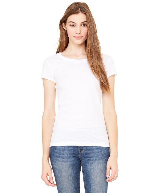 Bella + Canvas B8101 Ladies Marcelle Sheer Jersey Longer-Length T-Shirt