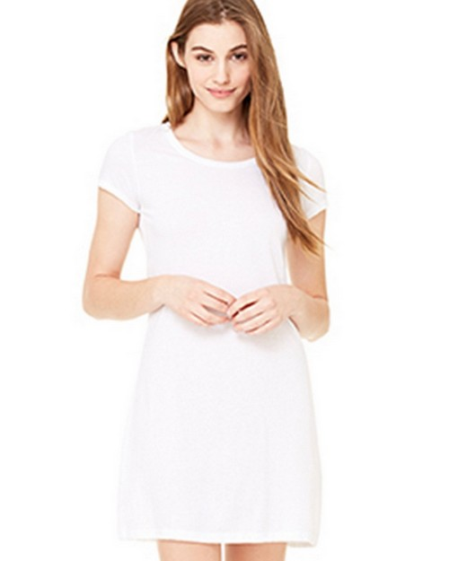 Bella + Canvas B8412 Womens Vintage Jersey T-Shirt Dress