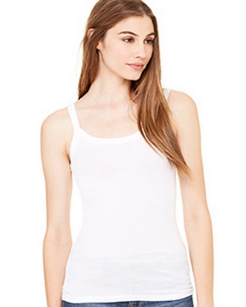 Bella + Canvas B8711 Womens Sheer Mini Rib Thin Strap Tank