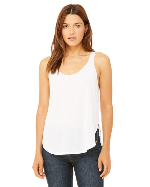 Bella + Canvas B8802 Womens Flowy Side Slit Tank