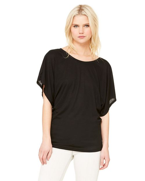 Bella + Canvas B8821 Ladies' Flowy Draped-Sleeve Dolman Tee