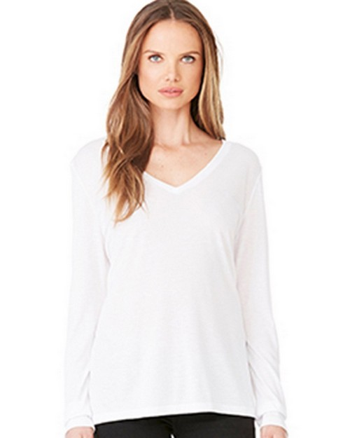 Bella + Canvas B8855 Womens Flowy Long Sleeve Tee