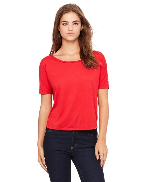 Bella + Canvas B8871 Ladies Flowy Open Back T-Shirt