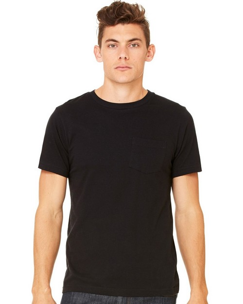 Bella + Canvas C3021 Mens Jersey Short Sleeve Pocket Tee