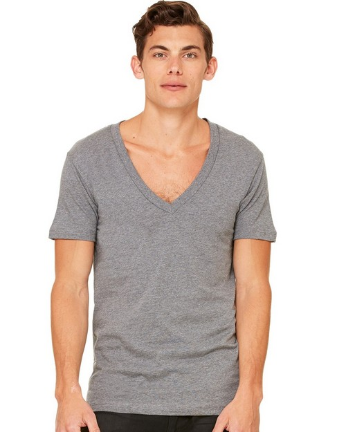 Bella + Canvas C3105 Unisex Jersey Short Sleeve Deep V-Neck Tee