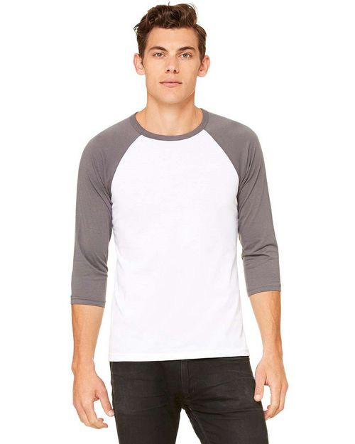 Bella + Canvas C3200 Unisex 3/4-Sleeve Blended Baseball Tee