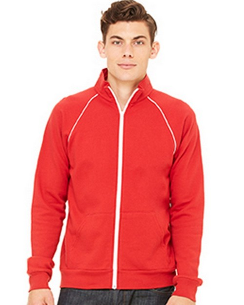 Bella + Canvas C3710 Mens Piped Fleece Jacket