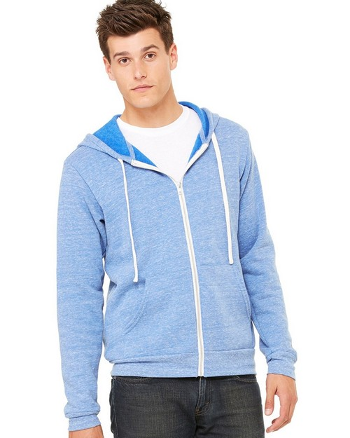 Bella + Canvas C3909 Unisex Triblend Sponge Fleece Full-Zip Hoodie