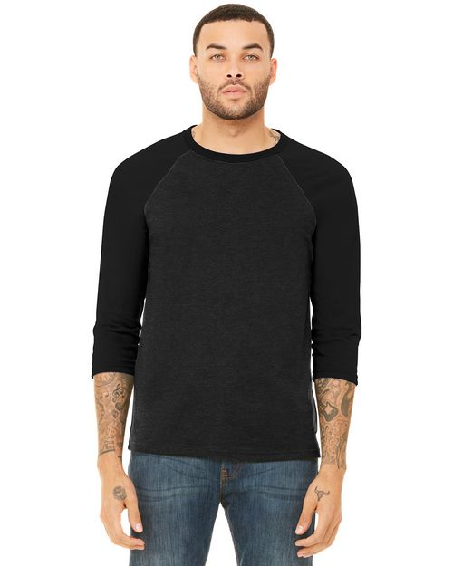 Bella + Canvas BC3200 Unisex 3/4-Sleeve Baseball Tee