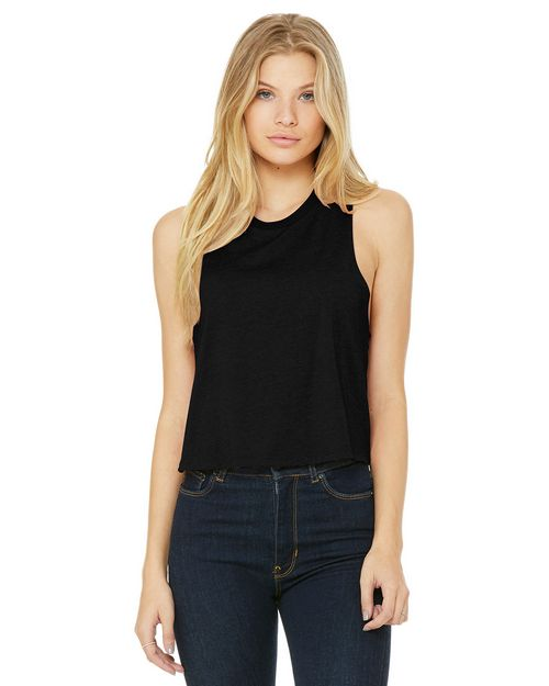 Bella + Canvas BC6682 Womens Racerback Cropped Tank