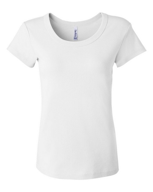 Bella + Canvas 1003 Ladies Baby Rib Short-Sleeve Scoop-Neck Tee