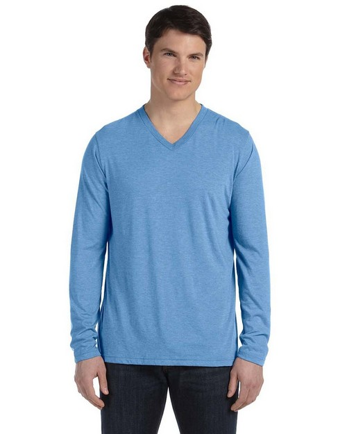 Bella + Canvas 3425 Mens Jersey Long Sleeve V Neck T Shirt