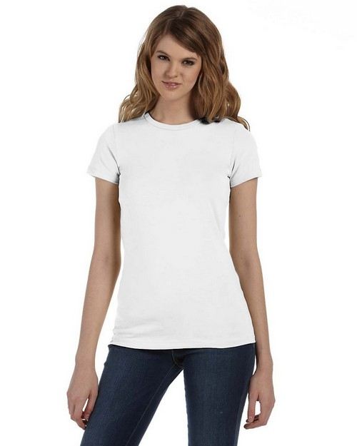 Bella + Canvas 6035U Ladies Made in the USA Jersey Deep V-Neck T-Shirt