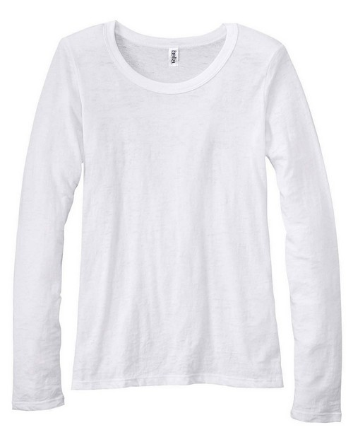 Bella + Canvas 8650 Ladies Gretchen Burnout Long-Sleeve T-Shirt