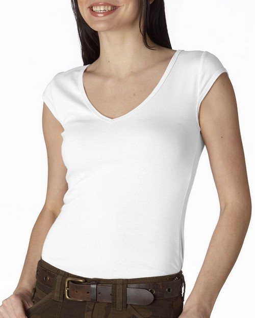 Bella + Canvas 8705 Sheer Rib V-Neck Tee