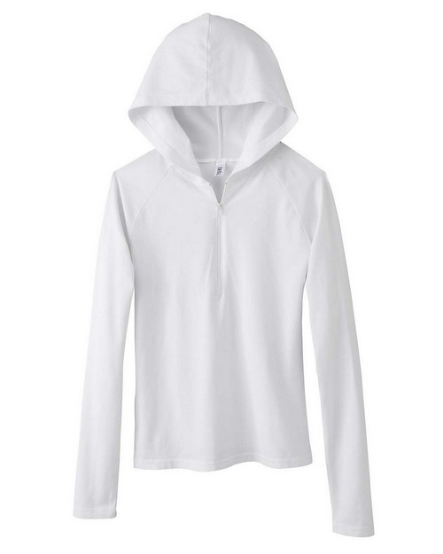 Bella + Canvas 875 Ladies Cotton/Spandex Half Zip Hoodie