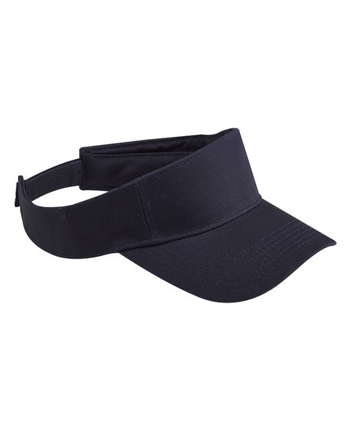 Logo Embroidered Big Accessories BX006 Cotton Twill Visor