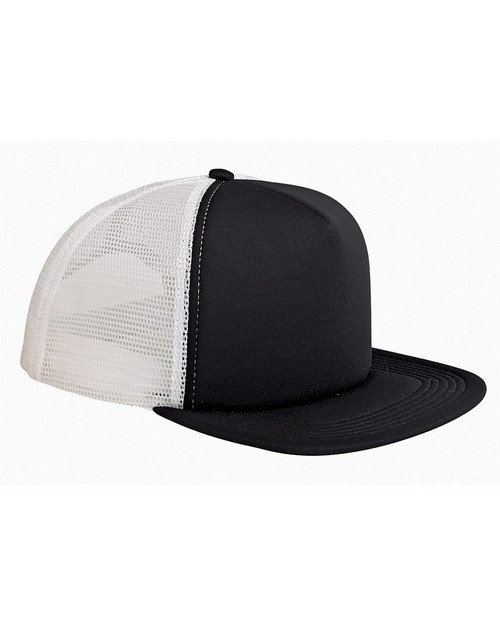Big Accessories BX030 5 Panel Foam Front Trucker Cap