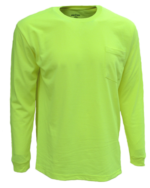 Bright Shield B146 Adult Long-Sleeve Pocket Tee