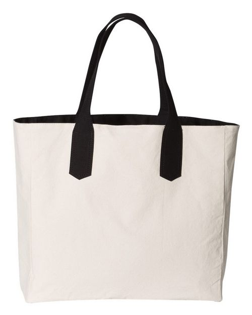 Brookson Bay BB500 Solid Tote with Contrast Handles