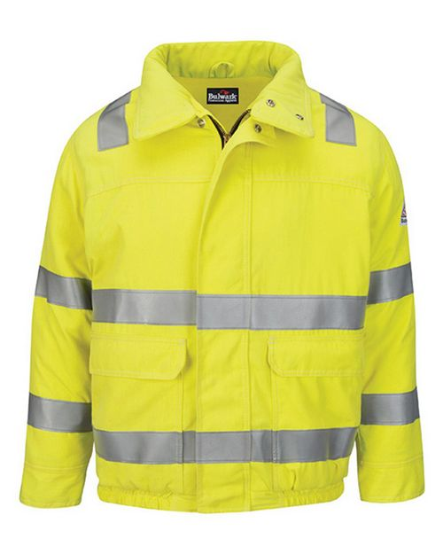 Bulwark JMJ4 Hi-Visibility Lined Bomber Jacket with Reflective Trim - CoolTouch2