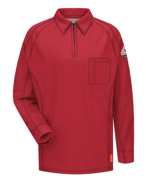 Bulwark QT12L Long Sleeve Polo Long Sizes